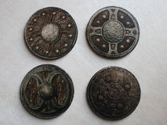 Skyrim Inspired Shield Coasters Set of Four by infamouscrafts