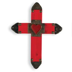 What a Beautiful Cross with a Heart Embellished.