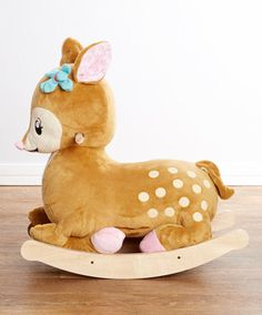 Holy goodness... that is the cutest little fawn rocking horse EVER! I need more kids!
