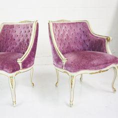 Charmant French Purple Chairs