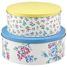 Buy Cath Kidston Cake Tins Highgate Rose, Set of 2 Online at johnlewis.com