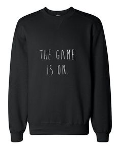 The Game is on with this hand painted Sherlock sweatshirt!    5% of every sale will be donated to Save The Children, an organization that is