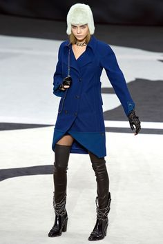 Chanel Fall/Winter 2013 Ready-to-Wear Collection via Designer Karl Lagerfeld / Modeled by Cara Delevingne