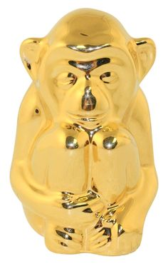 Rookwood Pottery 1983 Golden Monkey Paperweight Ltd Ed 392