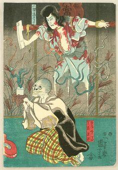 Revenge of Ghosts, ca. 1849-1953 by Utagawa Kuniyoshi