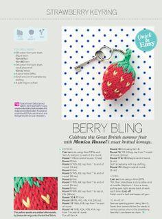 Knit a Strawberry Keyring! — The Handmade Fair