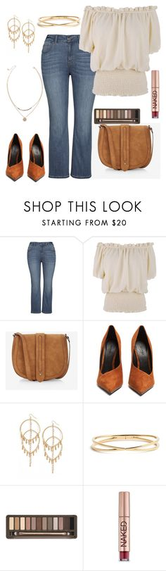 """""""Just an Outfit 11"""" by kimchk ❤ liked on Polyvore featuring Express, Balmain, Vanessa Mooney, Nadri and Urban Decay"""