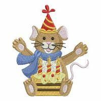 Happy Birthday Mouse - Wind Bell Embroidery | OregonPatchWorks