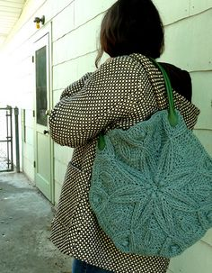 """Pattern available on Ravelry for """"snowflake"""" bag - love it!"""
