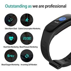 beitony Fitness Tracker, Color Screen Activity Tracker with Heart Rate Monitor Watch, Waterproof Fitness Watch with Calorie Counter Pedometer Sleep Blood Pressure Monitor for Kids Women Men Normal Blood Pressure Reading, Blood Pressure Range, Blood Pressure Symptoms, Increase Blood Pressure, Blood Pressure Remedies, Smoothie, Protein, Fitness Watch, Fitness Tracker