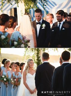 Loved seeing this bride and groom's faces during their beach wedding ceremony at Long Island's Crescent Beach Club, photographed by Rochester, NY wedding photographer Katie Finnerty Photography | http://www.katiefinnertyphotography.com/blog/2016.9.23.crescent-beach-club-long-island-wedding-justine-tome