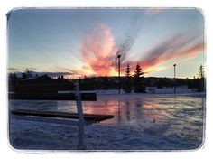 Beautiful winter sunset // by Brent Rawlings, Calgary, AB