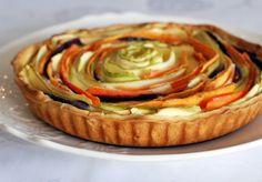 צבעוניות של קיץ או: מתכון לקיש ירקות Spiral Vegetable Quiche