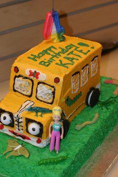 Kates 4th Magic School Bus Birthday Cake  Flickr Photo Sharing more at Recipins.com