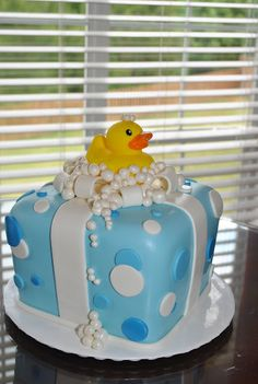 Bubbles Baby Shower Cake
