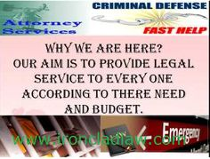 Criminal attorneys and their importance.  http://ironcladlaw.blogspot.in/2014/08/criminal-attorneys-and-their-importance.html