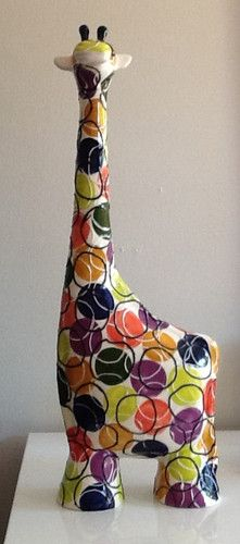 Turov Hand Painted Art Ceramic Figurine Giraffe | eBay