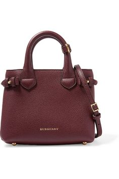 Burberry London | London mini checked canvas-paneled textured-leather shoulder bag | NET-A-PORTER.COM