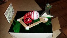 Baseball valentine box Valentine Day Boxes, School Projects, Beagle, Birthday Candles, Holiday Ideas, Fun Stuff, Flowers, Crafts, Party Ideas