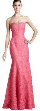 Monique Lhuillier Pink Lace Gown