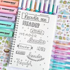 Header Ideas by Month for Your Bullet Journal Headers are an understated, yet huge part of bullet journaling. Check out these amazing bullet journal header ideas organized by month. Bullet Journal Headers, Bullet Journal Banner, Bullet Journal 2019, Bullet Journal Notebook, Bullet Journal Ideas Pages, Bullet Journal Inspiration, Journal Pages, Bullet Journals, Bullet Journal Wish List