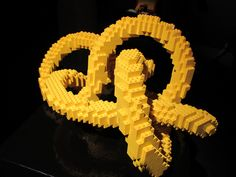 Art work by Nathan Sawaya -- all made from LEGO bricks! Lego Brick, Bricks, Superhero Logos, Art Work, Symbols, Artwork, Lego Blocks, Work Of Art, Brick