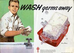 Wash Your Hands poster. Historical Collections & Services, Claude Moore Health Sciences Library, University of Virginia. Icu Nursing, Pediatric Nursing, Health Ads, Public Health, Hand Washing Poster, Image Cover, Hand Hygiene, Nurse Humor, Pediatrics