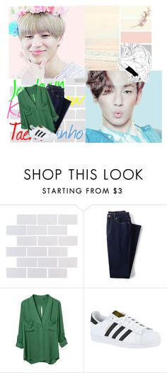 """✨ BATTLE OF THE SHAWOLS"" by jacksin ❤ liked on Polyvore featuring Lands' End, adidas and boftheshawols"