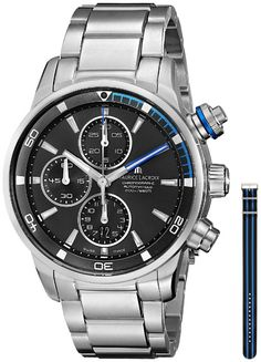 Men watches: Watches for men Maurice Lacroix Men's PT6008-SS002-331 Pontos Analog Display Swiss Automatic Silver Watch