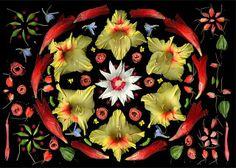 Art for your wallpaper: [Flower Art] [Flower Mandalas] by Portia Munson
