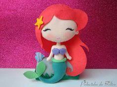 Risultati immagini per ariel felt - - Moja strona Mermaid Diy, Mermaid Dolls, Felt Patterns, Stuffed Toys Patterns, Felt Christmas, Christmas Crafts, Little Mermaid Parties, Felt Fairy, Doll Quilt