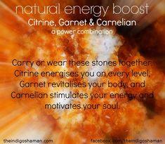 *Citrine, garnet , carnelian ☀ #energy #power #motivation https://www.etsy.com/shop/ellebernard