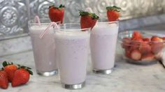 SIMPLE strawberry smoothie: Just frozen strawberries, yogurt (I used strawberry yogurt) and milk (optional if you want it thin enough to drink with a straw. Add a banana if you want it to be a strawberry-banana smoothie. -EC