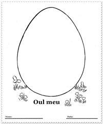 Picteaza oul tau de Paste #activitaticopii #plansedecolorat Easter coloring pages for kids