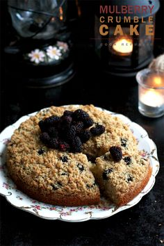 Mulberry Crumble Cake - Going to try to make this tonight with mulberries from Small Kinmen