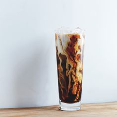 How do you make iced coffee even better? Add rosemary simple syrup, cream, and shake it up, baby.