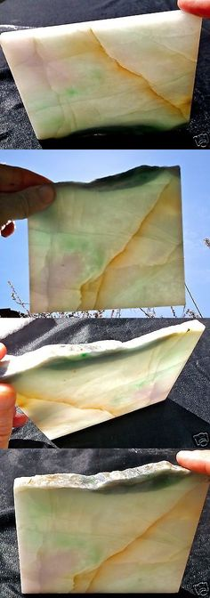 Other Jade 10231: Jadeite Fine Frosty Green And Lavender Huge Slab 334 Grams - 11.8 Oz S. E. Asia BUY IT NOW ONLY: $224.25