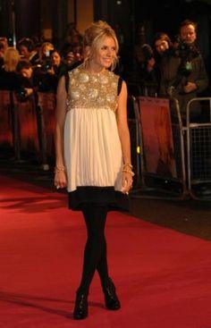 Sienna Miller wearing Balenciaga Dress.
