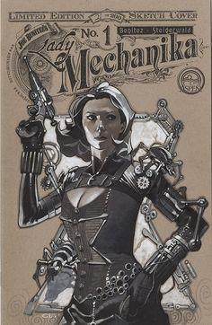 Steampunk Black Widow by Chris Stevens *