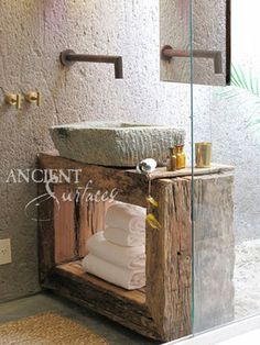 Antique Limestone and Marble Sinks - mediterranean - bathroom sinks - new york - Ancient Surfaces