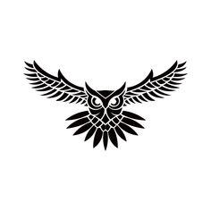 Owl Logo Vector Illustration Emblem Design On White Free Logo Design Template Owl Vector, Vector Art, Owl Tattoo Design, Tattoo Designs, Tribal Owl Tattoos, Geometric Owl Tattoo, Logo Design Cost, Simple Owl Tattoo, Owl Tattoo Drawings