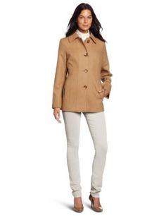 Anne Klein Women's Clara Wool Coat, Camel, Medium Anne Klein. $125.00