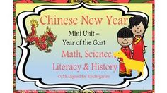"This is a common core aligned Mini-Unit for Chinese New Year (2015 Year of the Goat) for Kindergarten. It is written for Special Education/ELD Students and includes: 2 mini one page folding books; Various worksheets for tracing and original student writing; Several worksheets cover CCSS Math K.CC.A.2 & A.3 There are some puzzle pages which will help if you have English Language Learners (or others that need a ""fun"" way to practice reading)."