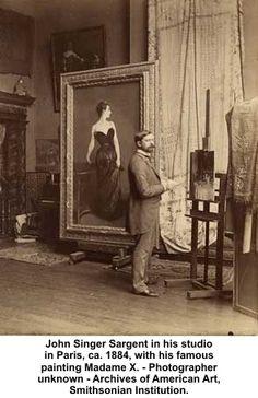 john singer sargent art studio | John Singer Sargent in his studio in Paris, ca. 1884, with his famous ...