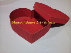 Caja Corazón en cartón corrugado -  Heart corrugated cardboard (box for ...