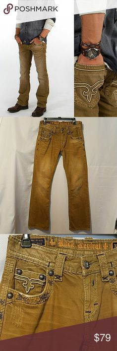 """Rock Revival  Jeans Rock Revival Jeans.Size 30 and inseam 31"""" ..used.firm Rock Revival Jeans Slim"""