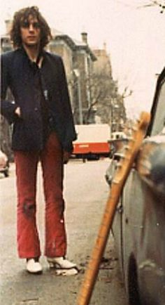 This is Syd Barrett of Pink Floyd.