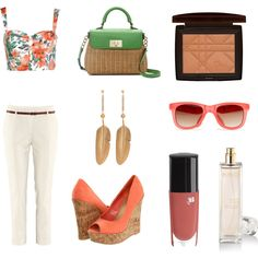 Flowers on the Beach, created by cloxford on Polyvore