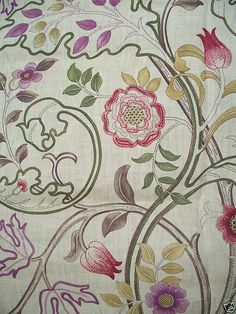 mary isobel, embroidery, now fabric William Morris, Fabric Patterns, Print Patterns, Morris Wallpapers, Arts And Crafts House, Arts And Crafts Movement, Textile Artists, Pattern Wallpaper, Printing On Fabric