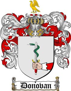 DONOVAN FAMILY CREST - COAT OF ARMS   at www.4crests.com